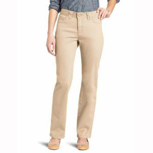 Lee Khaki Classic Fit Straight Leg Stretch Pants